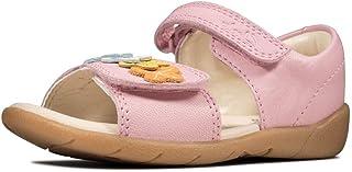 Clarks 女童 Zora Finch T 闭趾凉鞋