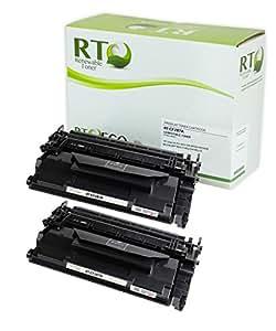 可再生硒鼓兼容硒鼓替换装 HP 87A(黑色,2 只装)