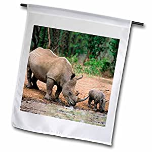 野生动物 - 黑犀牛,犀牛 - 旗帜 18 by 27-inch fl_1053_2