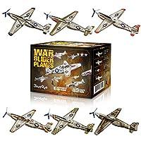 Joygogo 24 件装战争滑翔机玩具滑翔机玩具,6 种不同设计的儿童派对用品,易于组装,情人节飞机,生日派对,嘉年华*
