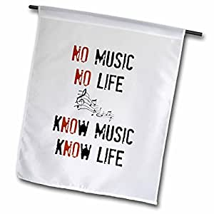 xander 鼓舞人心的语录 – NO Music NO LIFE KNOW 音乐 KNOW LIFE PICTURE OF 音符 – 旗帜 12 到 18 英寸