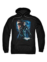 trevco 男式黑暗骑士崛起 Catwoman 成人套头连帽运动衫