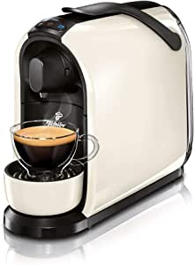 Tchibo Cafissimo Pure 胶囊咖啡机(适用于制作咖啡、浓咖啡、奶油咖啡和茶)黑色 白色