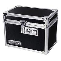 Vaultz 药箱 带组合锁 5 x 7 x 5英寸/约12.7 x17.78x12.7厘米, 黑色 (VZ00266)