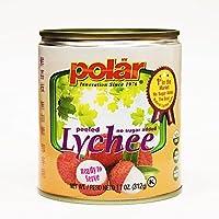 MW Polar Polar Lychee No Sugar Added, 11 Ounce (Pack of 12)