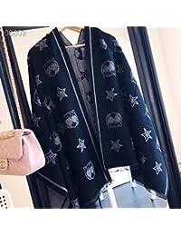 贴心羊 2018年新针织围巾羊绒保暖时尚围巾女