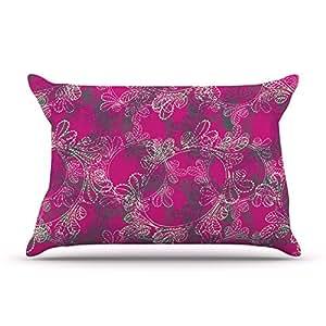 "Kess InHouse Patternmuse ""Jaipur Berry"" Purple Pink Pillowcase, 36 by 20-Inch"