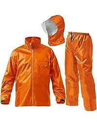 マック ワークス レイン スーツ 全2色 6サイズ レインスーツ 上下 防水 2レイヤー 止水テープ 橙色 LL