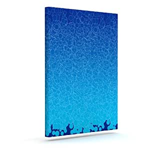 "Kess InHouse Frederic Levy-Hadida""泡蓝色""户外帆布墙画 8"" x 10"" 蓝色 FH1005BAC01"