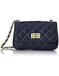 CTM 女式绗缝钱包,意大利经典手拿包,19x13x6 厘米,* 真皮,意大利制造