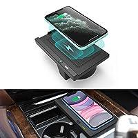 CarQi无线电话充电器,适用于 BMW X5 X6 2014-2018,宝马 X5(F15) X6(F16) 的中心控制台无线充电板垫,适用于所有支持 QI 的手机 - 带快速充电充电器
