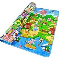 StillCool 婴儿游戏垫,79x71英寸(约200x182.9厘米)超大婴儿爬行游戏垫,0.2英寸(约1.5厘米)厚 Large-0.2-Inch-Thick