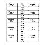 30 个向上易剥标签 2.625 x 1 个 FBA 地址标签白色邮寄标签 适用于激光和喷墨打印机 150 Sheets