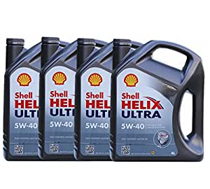 Shell壳牌HelixUltra超凡喜力全合成润滑油5W-40(德国原装进口) 4L*4桶(部分地区已开通线下安装及保养服务!仅限亚马逊自营商品)(新老包装随机发货)