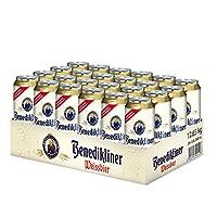 德国原瓶进口百帝王Benediktiner小麦白啤酒听装 500ml*24听 整箱装