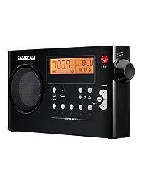 sangean pr-d7 bk am/fm 数字可充电便携式收音机 - 黑色