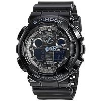 Casio卡西欧G-Shock电子数字表盘黑色树脂男士手表GA100CF-1A