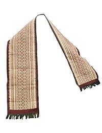 RaanPahMuang 手工编织棉 Sabaii 腰带,泰国北兰娜文化风格