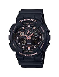 Casio Men's 手镯GA-100GBX-1A4ER Analog - Digital Resin Black GA-100GBX-1A4ER