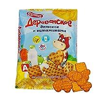 甜蜜农庄 俄罗斯进口 维生素儿童饼干 320g*4袋 休闲零食