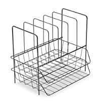 Fellowes Side Load Double Tray with 5 Section Sorter, Wire, Letter Size, Black (72371)