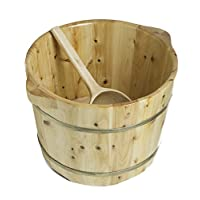 ALFI 品牌 AB6604 38.1 cm 實心雪松木*浸泡桶 帶配套勺子