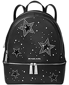 MICHAEL Michael Kors Rhea Zip Medium Backpack (Black/Star Studs)