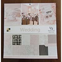 dcwv 婚礼高级 STACK 48片 OF 12X 12印花卡片纸剪贴簿