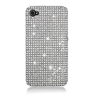 Eagle Cell PDIPHONE4GF377 RingBling Brilliant Diamond Case for iPhone 4 - Retail Packaging - Silver