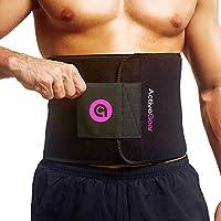 ActiveGear 腰部修剪腰带修身身体运动包裹 适用于腹部和背部腰部支撑