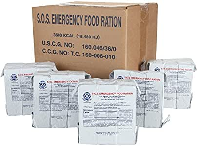 S.O.S. Rations Emergency 3600 Calorie Food Bar - 3 Day / 72 Hour Package with 5 Year Shelf Life 20 Pack