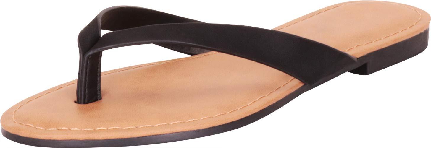 Cambridge Select 女式经典一脚蹬人字趾平底人字拖凉鞋