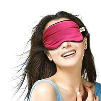 维康 真丝遮光无痕眼罩安神眼罩 玫红色