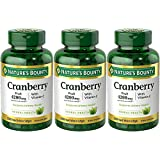 Nature's Bounty Cranberry Fruit 4200 mg with Vitamin C, 250 Softgels (Pack of 3)