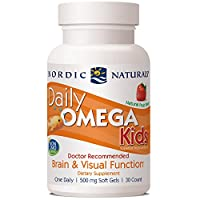 Nordic Naturals (挪威小魚) - 每日Omega哄騙草莓 500 mg。30軟膠囊