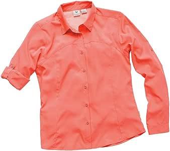 White Sierra Gobi Desert Long sleeve Shirt, Nasturtium, small
