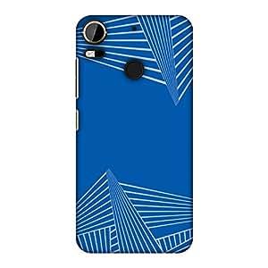 amzer 修身设计师扣紧式硬壳手机壳后盖壳带屏幕护理套装适用于 HTC Desire 10Pro Carbon Fiber Redux Coral Blue 3