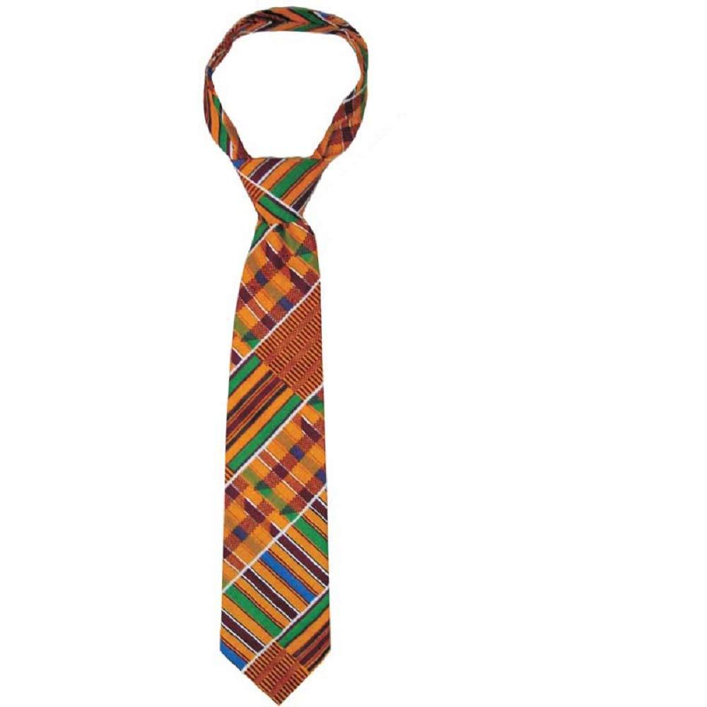 アフリカケンタッキー#1ネクタイ、男性のネクタイ、黒ネクタイ、黒歴史、シックな、赤、オレンジ色のネクタイ、メンズアクセサリー、印刷および卒業