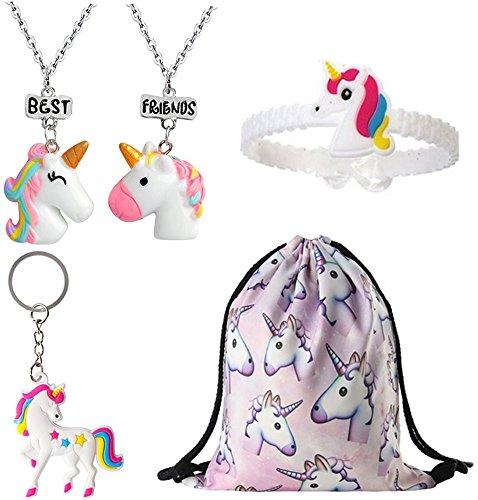 女孩独角兽礼物,独角兽好袋,包项链手镯腕带钥匙链 款式 1 One_Size