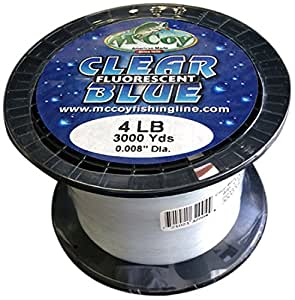 McCoy Fishing Line, Clear Blue Fluorescent, 3000-Yard/12-Pound