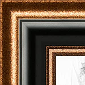 ArtToFrames 7x30 / 17.78 x 76.2 画框铜边黑谷。 5.08 cm 宽 (2WOMZ220)