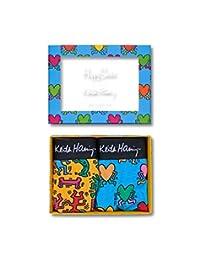 Happy Socks 男式平角内裤,2 件装 Keith Haring 系列