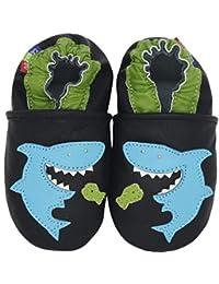 Carozoo 幼儿儿童中性拖鞋动物花朵软底皮革婴儿鞋
