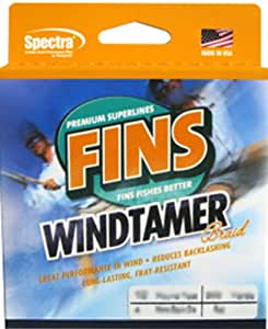 Fins Spectra 300-Yards Windtamer Fishing Line, Pink, 40-Pound