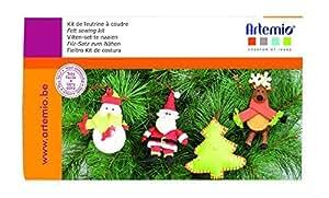 Artemio 13070059 圣诞树毛毡缝纫套件装饰