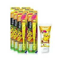 【Amazon.co.jp限定】 REACH 【批量购买】REACH 儿童牙刷手办6个+皮卡丘牙膏60g 套装 6支+60g