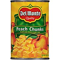 Del Monte Yellow Cling Peach Chunks in Heavy Syrup, 15.25 Ounce (Pack of 12)