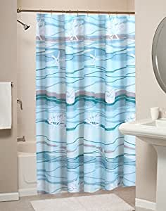 Greenland Home Fashions Maui 浴帘 enter Materil 标准 GL-1512ASHW