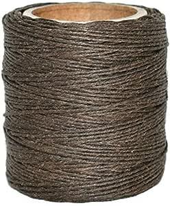 "Maine 螺纹 - 棕色打蜡涤纶绳。 每个 210 英尺。 包括 2 个线轴。 棕色 .045"" WP-1362-.045-2"