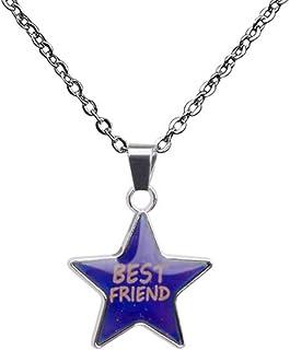 温度感应变色心情指示 Best Friend 吊坠项链